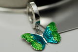 Green and Blue Butterfly Belly Button Ring - TummyToys
