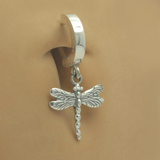 TummyToys Solid Silver Dragonfly Belly Ring - TummyToys
