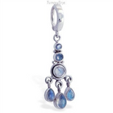 TummyToys Silver Moonstone Belly Button Ring - TummyToys