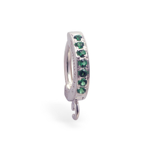 Belly Button Ring Sleeper with Sparkling Green CZ | Customizable | Make your own - TummyToys