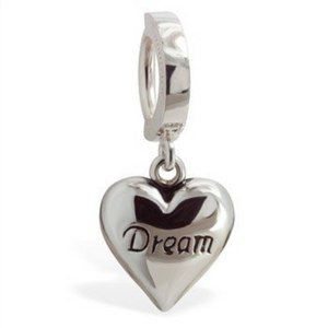 "TummyToys Silver ""Dream"" Heart Belly Ring - TummyToys"