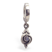 TummyToys Silver Natural Moonstone Belly Button Ring