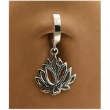 Lotus Flower Belly Ring | Solid .925 Sterling Silver - TummyToys