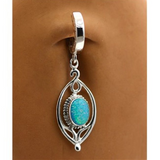 Sterling Silver and Opal Belly Button Ring - TummyToys