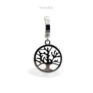 Solid Silver Tree of Life Belly Ring - TummyToys