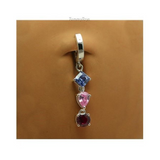 Colorful CZ Belly Ring Dangle | Solid Sterling Silver - TummyToys