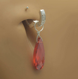 Changeable Orange CZ Belly Ring Dangle Charm - TummyToys