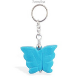 Changeable Turquoise Butterfly Belly Ring Swinger Charm - TummyToys