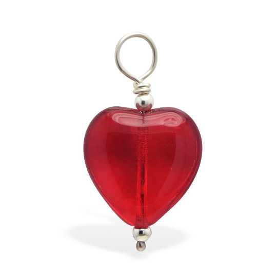 Changeable Red Heart Belly Ring Swinger Charm By Tummytoys - TummyToys