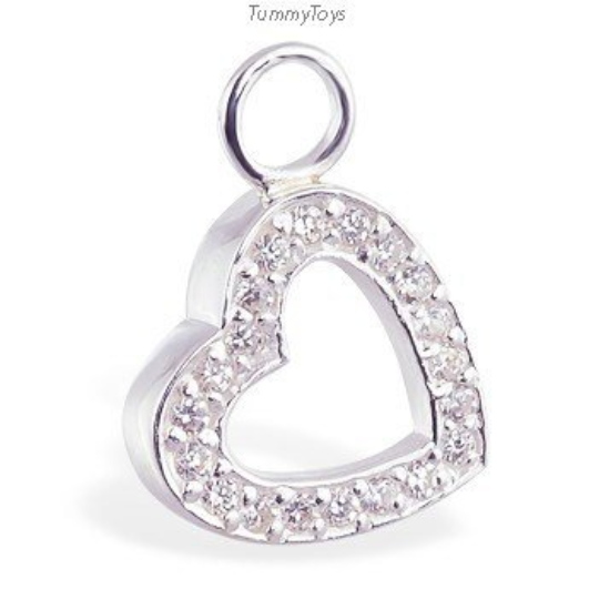 Changeable Heart & CZ Swinger Charm - TummyToys