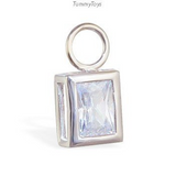 Changeable Sexy Emerald Cut Cz Swinger Charm Exclusively By Tummytoys - TummyToys