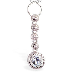 Changeable CZ Chandelier  Belly Ring Swinger Charm - TummyToys