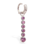 Changeable Pink CZ Dangle Belly Ring Swinger Charm - TummyToys