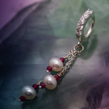 Stunning Solid Silver and Pearl Dangle Charm Belly Ring - TummyToys
