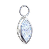 Changeable Marquise CZ Diamond Belly Ring Swinger Charm By Tummytoys - TummyToys