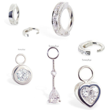 Clear CZ & Silver Belly Ring Pack | Discount Bundle - TummyToys