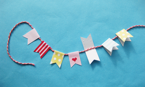 Feather Grey Cake Bunting Tutorial