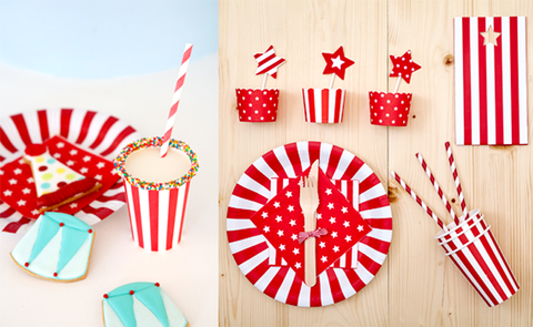 Candy Cane red, starts, stripes & polka dots