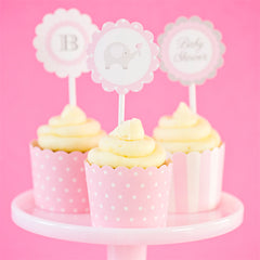 Pink baby Shower from feather Grey Parties