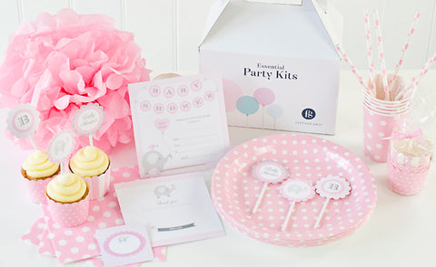 Pink baby shower by Feather Grey