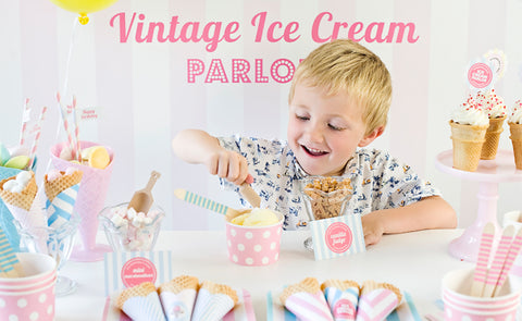 Vintage ice cream party by Feather Grey