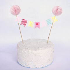 Feather Grey Cake Bunting Tutorial & Printable