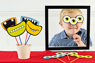 Monster Photo Booth Template