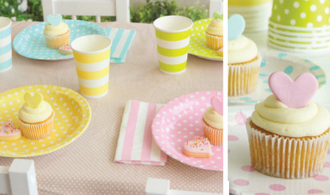 Pastel Plates & Cups from Feather Grey Parties