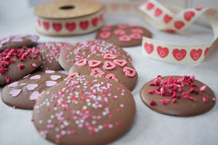 Valentine chocolate drops By Katie Bryson
