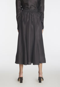 Bo Silk Skirt - Black