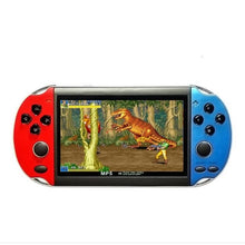 "Load image into Gallery viewer, 32/64/128 Bit 5"" 7"" LCD X9 plus Double rocker 16G Handheld Retro Game Console Video MP5 TF Card for GBA/NES 10000 games"