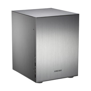 Jonsbo C2 Mini  ITX Case  Aluminum Computer Case Desktop PC Chassis Silver/Black for Mini ITX/Micro-ATX