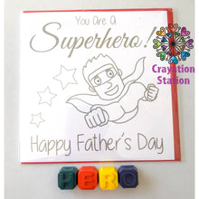 Load image into Gallery viewer, Fathers Day Colouring Cards Set(Dad)