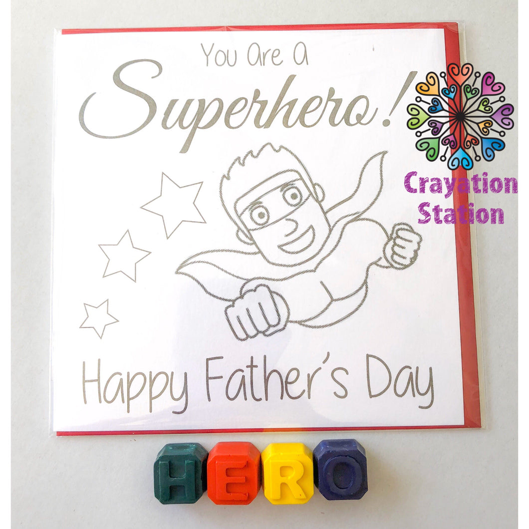 Fathers Day Colouring Cards Set(Dad)