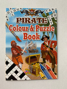 Mini pirate colouring book