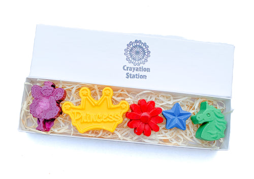 Princess crayons in a giftbox
