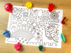 Crayation Stations Free Colouring Picture