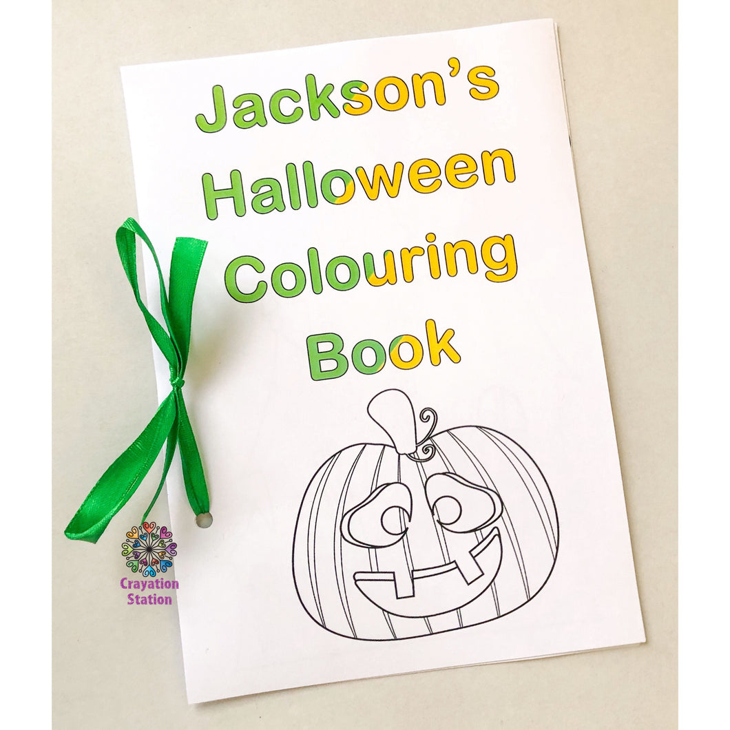Handmade Personalised cover colouring (Halloween) book