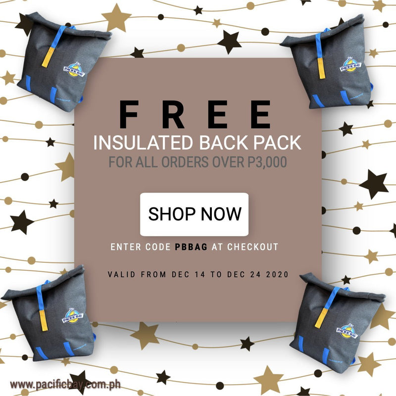 Get a FREE insulated backpack for all orders over P3,000 | Pacific Bay