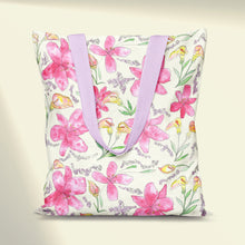 Load image into Gallery viewer, Lilies & Lavender Tote Bag