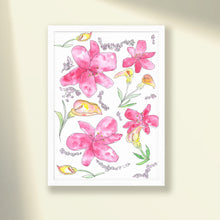 Load image into Gallery viewer, Lilies & Lavender Print