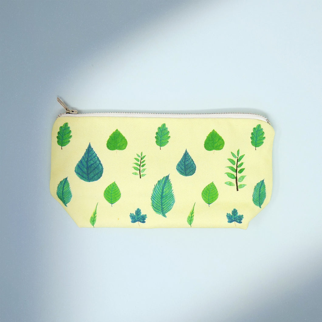 Spring Leaves Makeup Bag