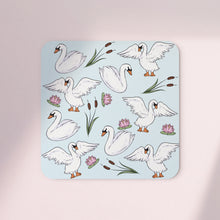 Load image into Gallery viewer, Swans & Reeds Set of 4 Coasters