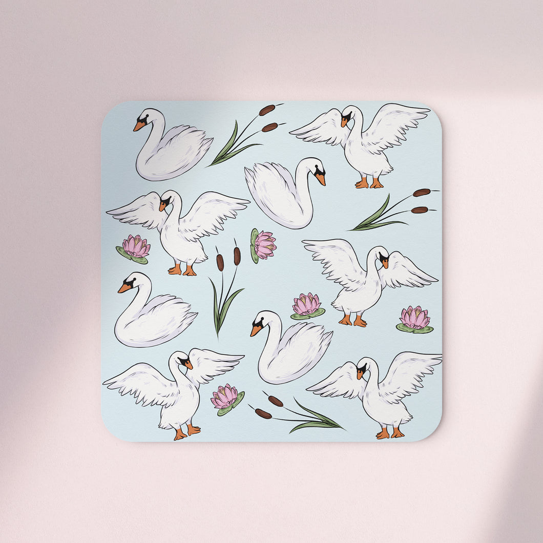 Swans & Reeds Set of 4 Coasters