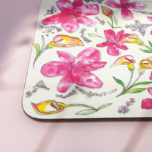 Load image into Gallery viewer, Lilies & Lavender Set of 4 Coasters