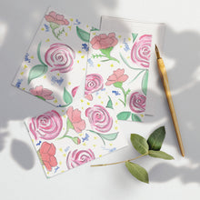 Load image into Gallery viewer, Roses & Carnations Greetings Card Set