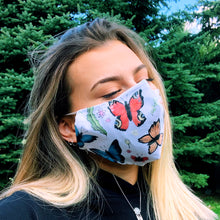 Load image into Gallery viewer, Butterflies Face Mask