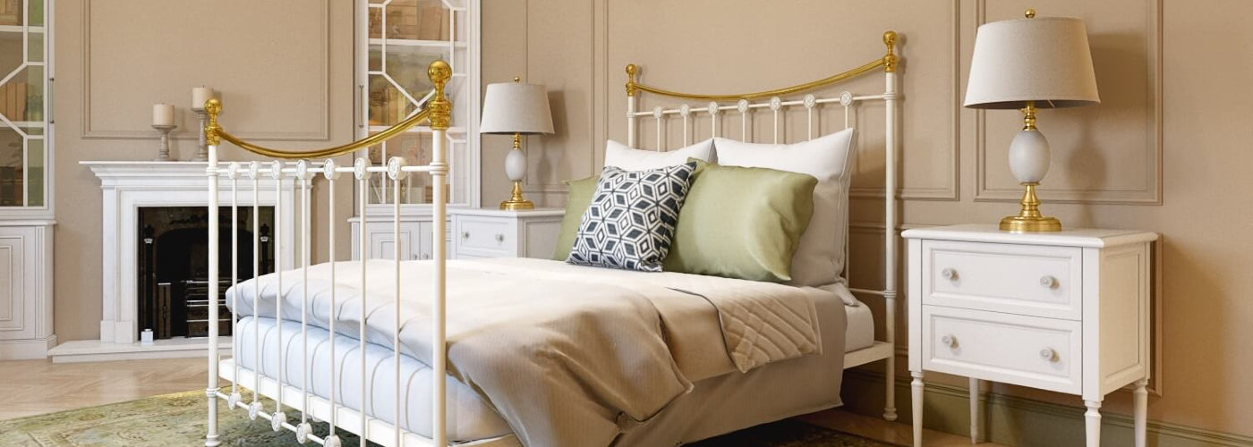 Evelyn Wrought Iron Bed