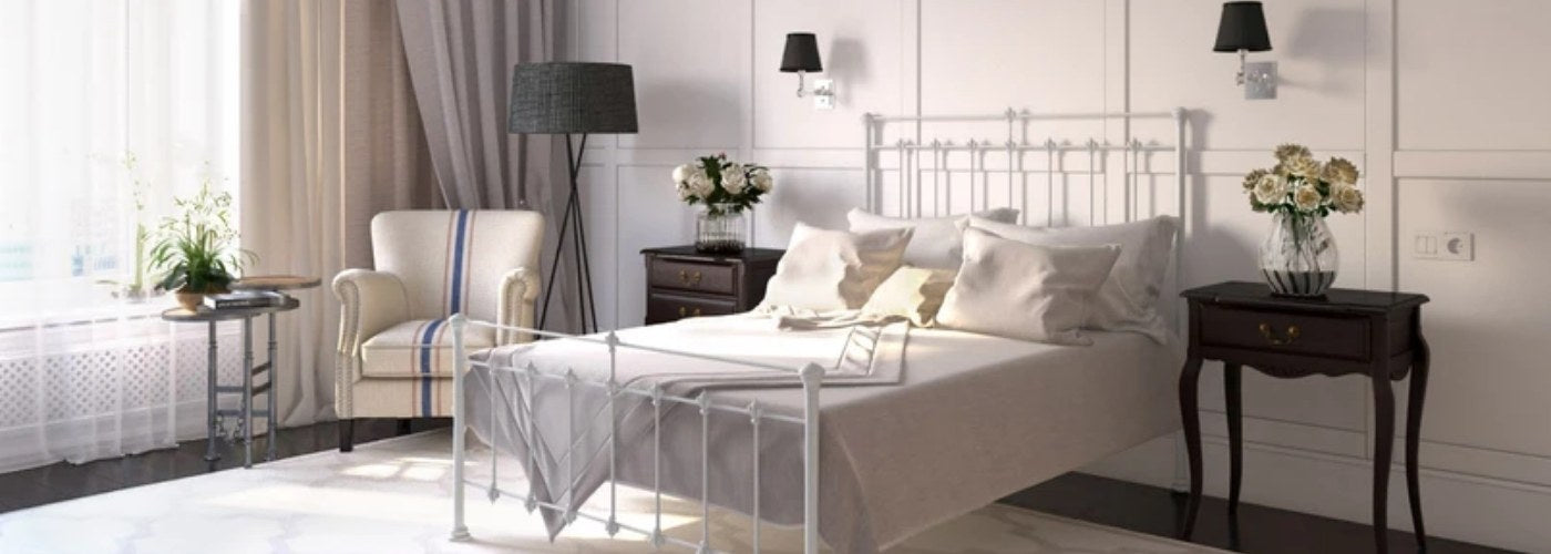 King size bed with mattress bundle