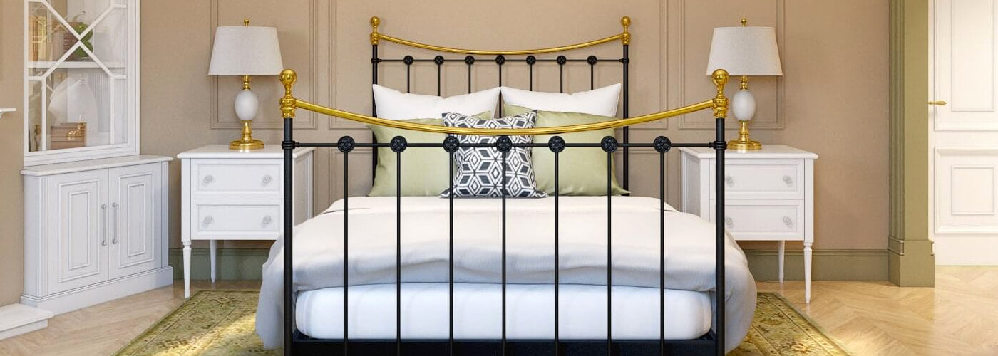 strong wrought iron bed